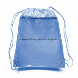 Polyester promotionnel Cheap coulisse sacs avec poche avant