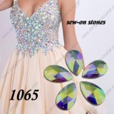 Ab Flat Back Glass Stone para Wedding Dress Decoration