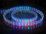 Flexible de LED de 4 hilos lisos y redondos de la luz de cuerda DIP