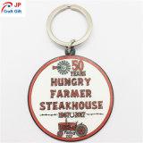 Metallo affamato su ordinazione Keychain dello steakhouse del coltivatore per il ricordo