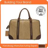 2017の方法大きい革純粋な綿のキャンバス旅行ハンドバッグ(BDM184)