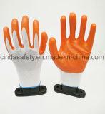 Нитриловые покрытием промышленные рабочие перчатки