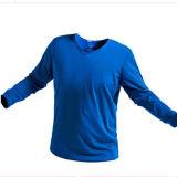 人の堅い走っている列車速乾燥の長袖のTシャツ