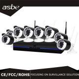 наблюдение камеры дома обеспеченностью CCTV наборов IP NVR 8CH 1.0MP беспроволочное