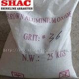 Brown alumínios fundidos 4#-220# norma FEPA