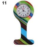 Moda Reloj SILICONA silicona enfermeras broche túnica fob en el dial de Acero Inoxidable Relojes de bolsillo