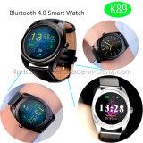 Reloj elegante de Bluetooth del reloj impermeable del androide/IOS con el ritmo cardíaco K89
