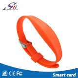 Impresa personalizada S50 13.56MHz RFID pulsera de silicona