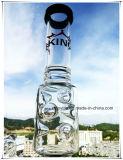 Hb-K70 Rokende Waterpijp van het Glas van de Vorm van de Kegel van Perc van de Beker van de basis de Gealigneerde Dubbele met 3 Delen 9 Inkepingen van het Ijs