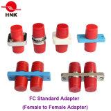 Sc/LC/FC/St/Mu/MTRJ/MPO SimplexかDuplex/Quad Singlemode/Multimode Om3/Om4/APC StandardかHybrid Fiber Optic Adapter