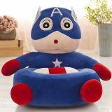 子供のためのプラシ天のおもちゃの豆袋の椅子のシート、かわいい動物のプラシ天の柔らかいソファーのシート、漫画のTatamiの椅子
