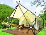 木の床の庭のプレハブの観光地ホテルのテントをカスタマイズしなさい