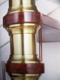 Uso de los materiales de construcción en escalera de caracol de interior