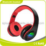 Projeto da forma com o auscultadores estereofónico de Bluetooth do indicador do diodo emissor de luz