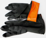 Schwarzer Latex-industrielle Handschuhe (Naturkautschuk)