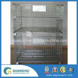 O volume de negócios de metal de malha de arame de dobragem do recipiente de armazenamento de caixa do compartimento