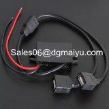 Interfaz USB Dual 12V a 5V Cargador de coche, teléfono celular, móvil de datos de viaje Connecter / Transformador