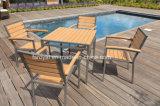 Home Отель Ресторан садовая мебель обеденный стол, алюминиевый плетеной пластмассовые деревянные стулья на открытом воздухе Polywood