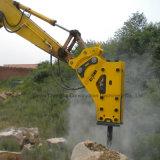 掘削機A904cのための側面のタイプSb81の黄色いカラー油圧石のブレーカ