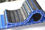 Correia transportadora modular plástica antiderrapante com borracha