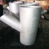 45 grados y tubo de acero inoxidable Lateral de la rama de la t