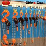Élévateur de bloc à chaînes de construction de levier de 1.5 tonne