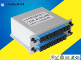 1X2 1X4 1X8 FTTH 광섬유 카세트 유형 PLC 쪼개는 도구 삽입 유형