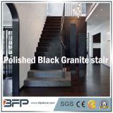 Hoher Glanz-chinesische schwarze Granit-Treppe für Innenraum