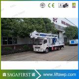 4X4 Isuzu 20mトラックによって取付けられるクレーンバケツの上昇のプラットホーム