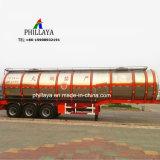 10000 - 60000 litros Tanque de combustible de camiones cisterna semi remolque de aluminio de transportista