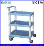 Trole Emergency/carro do tratamento médico do uso do ABS da mobília do hospital da alta qualidade