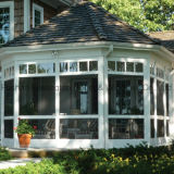 Sunroom de vidro de alumínio da varanda da casa do bolo quente (FT-S)
