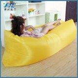 210D polyester jaune Sac de couchage avec poche