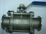 ISO 5211 Pad를 가진 3PC Clamp End Ball Valve
