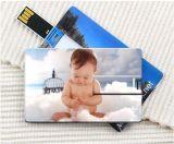 Mecanismo impulsor de destello de la pluma del USB de la dimensión de una variable de la tarjeta de crédito, USB de destello de la tarjeta de crédito 3.0 del USB Drive1GB 4GB 8GB 16GB 32GB con su insignia