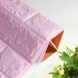 azulejo decorativo ligero del ladrillo de las etiquetas engomadas tridimensionales de la pared que hace espuma 3D
