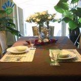 Ресторан с помощью одноразовых крышку стола и Таблица ткани и Tablecover