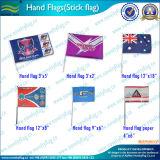 Drapeau de main de pays de polyester de taille standard de qualité (NF01F02022)