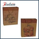 la qualité 157g personnalisent les sacs en papier de vin de Papier d'emballage estampés par logo