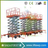 hidráulicos pequenos móveis elétricos 14m aéreos de 12m Scissor a plataforma do elevador