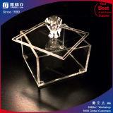 De vierkante Duidelijke Acryl Katoenen Houder van het Stootkussen met Dekking