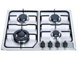 4 Kooktoestel van het Gas van het Roestvrij staal van de Prijs van de brander het Goedkope Ingebouwde, Gasfornuis
