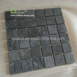 Mosaico nero di qualità superiore dell'ardesia St-018 per il rivestimento murale della stanza di lavaggio della stanza da bagno