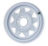 Il rimorchio bianco di disegno classico spinge 8 cerchioni d'acciaio dei raggi