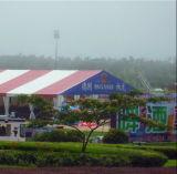 Grande tente utilisée pour le chapiteau d'événement de noce