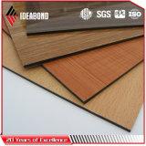 Панель декоративного деревянного взгляда алюминиевая составная для потолка