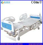 Letto di ospedale manuale di plastica funzionale di Siderail del lusso tre delle attrezzature mediche