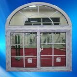PVC Arch Window mit Grill, UPVC Window