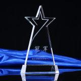 Prix de trophée en cristal nouveau design avec logo personnalisé