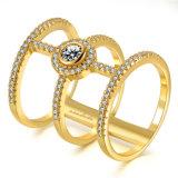 De Ring van de Juwelen van de manier met de Witte Steen van CZ van de Kleur